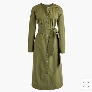 J. Crew Olive Green Shirt Dress Size XL